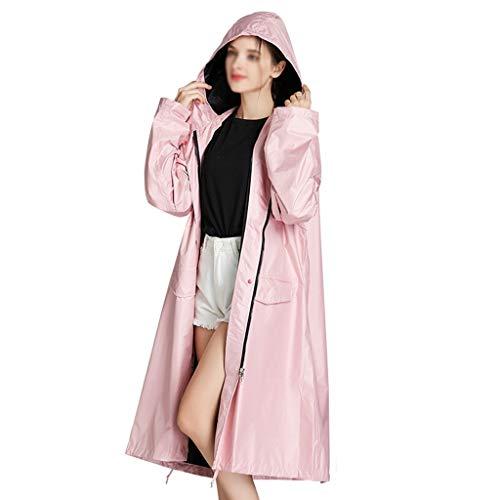 WXX-tarpaulin Poncho de Pluie, Pluie réutilisable Poncho Pluie de Raincoat Femmes imperméable, Respirant et imperméable Manches Durable Couverture (Color : Pink, Size : XL)