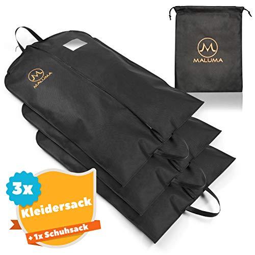 Maluma  Kleidersack Set - Mit Wasserabweisendem Vlies - Inklusive gratis Schuhsack - Optimal für unterwegs Dank robustem Tragegriff - Mit eingebautem Sichtfenster