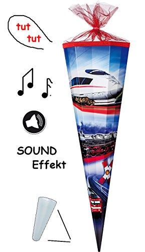alles-meine.de GmbH passende 3D Bänder - Schleife - für mit Sound Effekt ! - Schultüte - Eisenbahn - Zug - mit Strass - 70 / 85 cm - Zuckertüte ALLE Größen - mit / ohne Kunstst..