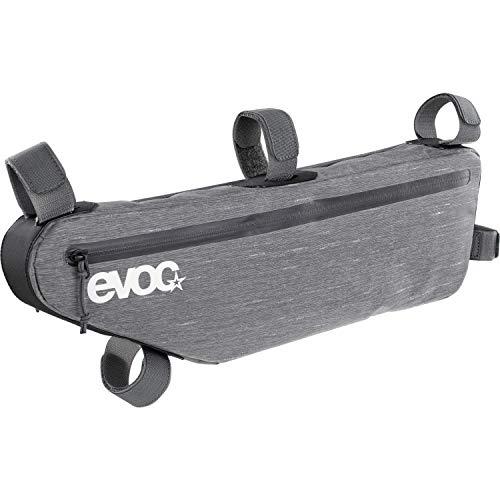 EVOC FRAME PACK M Bike Packing Rahmentasche Fahrradtasche Zubehör für das Fahrrad (5-Punkt-Fixierung, abriebfest & wasserabweisend, durchdachtes Fächersystem, inkl.: Rahmenschutz), Farbe: Carbon Grau