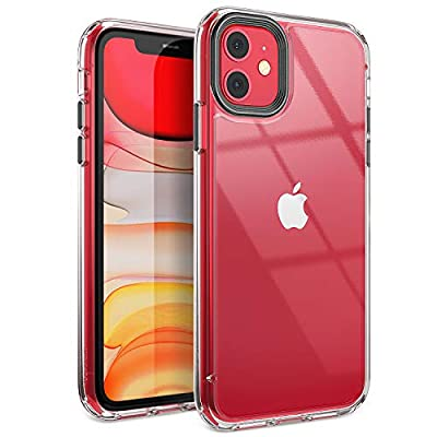 YOUMAKER Stylish Crystal Clear Case for iPhone 11, Anti-Scratch Shock Absorption Slim Fit Drop Protection Premium Bumper Cover Case for iPhone 11 6.1 inch (2019)