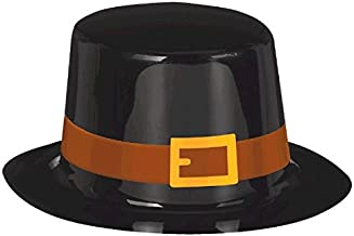 amscan Pilgrim Black Top Hat for Thanksgiving Party | Accessory