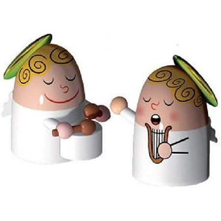 Alessi Amgi26set3 Angels Band Set de deux Figurines en Porcelaine, decorées à la Main