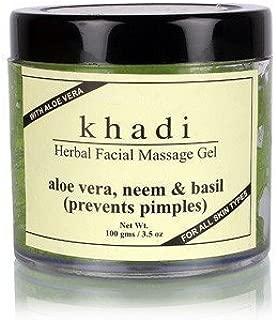Khadi Natural Herbal Aloevera Neem & Basil Face Massage Gel for All Skin Types (100 g)