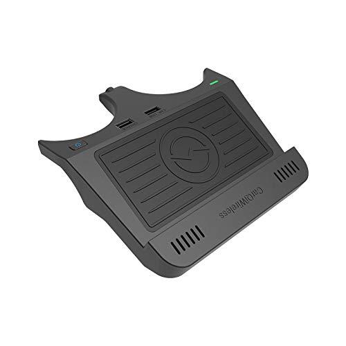 WYXC Cargador Inalámbrico Coche para BMW 5 Series M5 2017-2021/6 Series M6 2018-2019 Panel de Accesorios de la Consola Central, 10W Carga Rápida Teléfono Cargador, para iPhone 11 11pro Samsung S9 S10