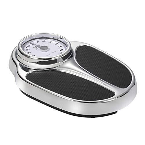 Hemio Body Scales - Báscula mecánica de Alta precisión, para Adultos, para Perder Peso, fácil de Leer, Plataforma de Metal Robusta, 120 kg, Alta precisión