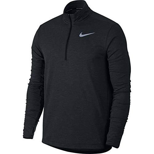 Nike Men s Sphere Element 1 2 Zip Ruunning Top 2.0 (Black HTR, Large)