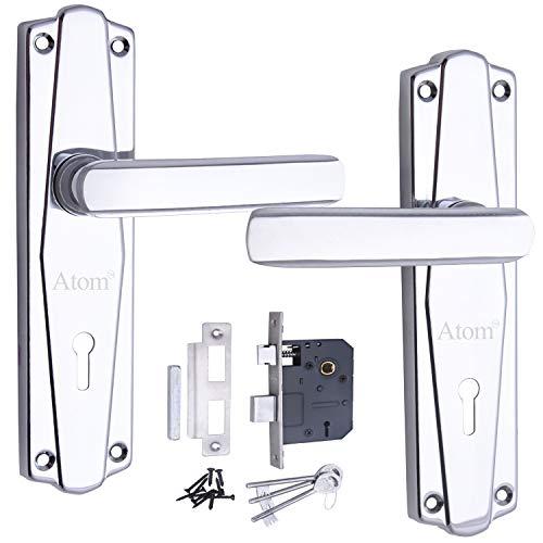 Atom 609 K.Y with Lezend CP Finish Iron Mortise Door Lock (65 mm)
