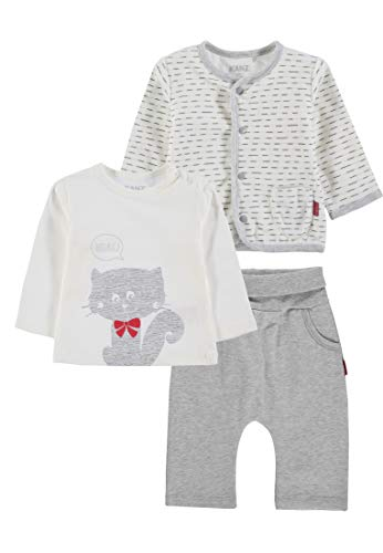 Kanz 3tlg. Set (Jacke + T-Shirt 1/1 Arm + Jogginghose) Completino, Multicolore (y/d Stripe|Multicolored 0001), 2 Mesi Unisex-Bimbi