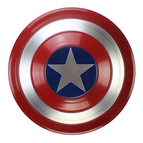 Tables Captain America Shield Metal Captain America Custome Halloween Puntelli Cosplay per Adulti Bambino Bar Shield Decorazioni, Classic