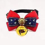 MUTSALAK Bow Dog Collar de Gato Collar Campana Corbata Gato Suministros Suministros Decorativos