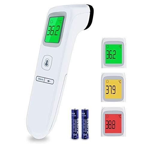 Boriwat Termometro Frontale, Termometro Digitale a Infrarossi Portatile Senza Contatto, Letture Istantanee Accurate, per Neonati, Bambini, Adulti