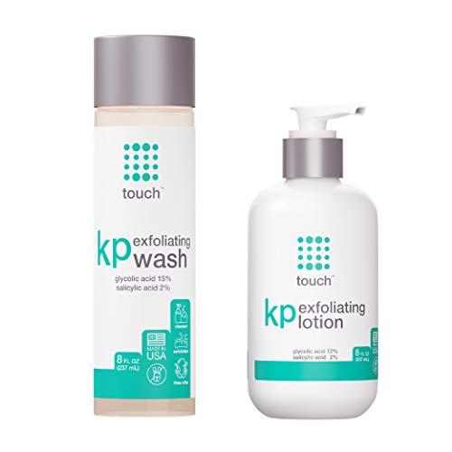 Keratosis Pilaris & Acne Exfoliating Body Wash Cleanser Plus Moisturizing Body Lotion