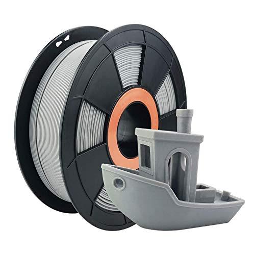 ZIRO PLA Filament 1.75mm,3D Printer Filament PLA PRO Basic Color Series 1.75MM 1KG(2.2lbs), Dimensional Accuracy +/- 0.03mm, Gray