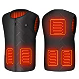 upstartech Heated Vest Electric Warm Vest Body Warmer Clothes Washable Lightweight with Adjustable Temperature Control Heating Thermal Jacket for Women Men Winter Outdoor Activities (M)