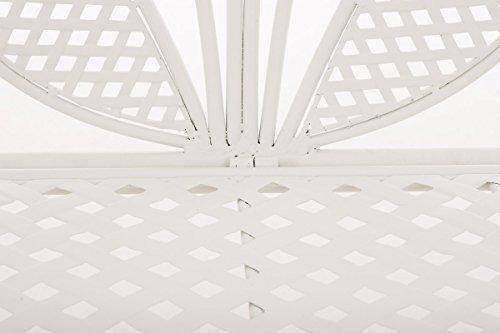 CLP Metall-Gartenbank TJURE im Landhausstil, Eisen lackiert, ca. 140 x 60 cm Weiß - 5