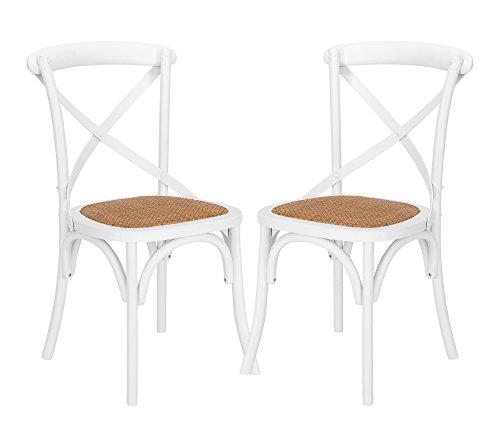 POLY & BARK Cafton Crossback Stuhl, Holz, Weiß