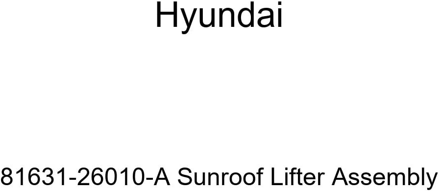 Genuine Hyundai 81631-26010-A Max 45% Regular store OFF Lifter Sunroof Assembly