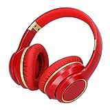 Deansh Cuffie Bluetooth 5.0 Senza Fili, Cuffie Bluetooth Pieghevoli con Cancellazione del Rumore con Microfono Cuffie Over-Ear con Bassi Profondi Cuffie da Gioco Stereo HiFi(Rosso)