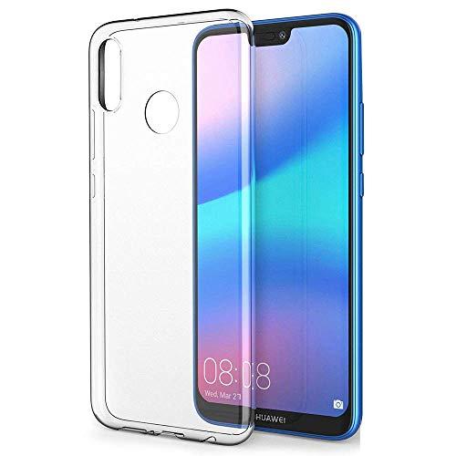 Amonke Cover per Huawei P20 Lite - TPU Silicone Trasparente Huawei P20 Lite Protettiva Custodia Antiurto, Ultra Chiaro e Leggera Sottile Morbido Anti-Graffio Case compatibile per Huawei P20 Lite