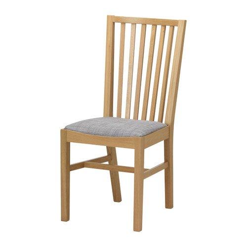 ★NORRNAS/チェア/オーク/イースンダ グレー[イケア]IKEA(40177493)