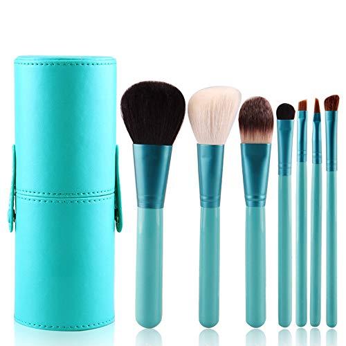 Maquillage Pinceaux Set 7 PCs Fondations Fond Blush Eyeliner Fard À Paupières Pinceau Gradué Couleur Cas Brosse à maquillage XXYHYQ (Color : Bleu, Size : Libre)