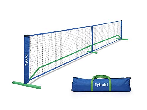 Pickleball Nets Portable Outdoor Portable Pickleball Net Regulation Size Equipment Lightweight Sturdy Interlocking Metal Posts with Carrying Bag for Indoor Outdoor Pickle Ball Game Court 22ft