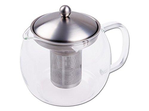 chg 3403-00 Teekanne mit Filtereinsatz/Kanne aus Glas/Deckel und Filtereinsatz aus rostfreiem Edelstahl/für 1.2 Liter
