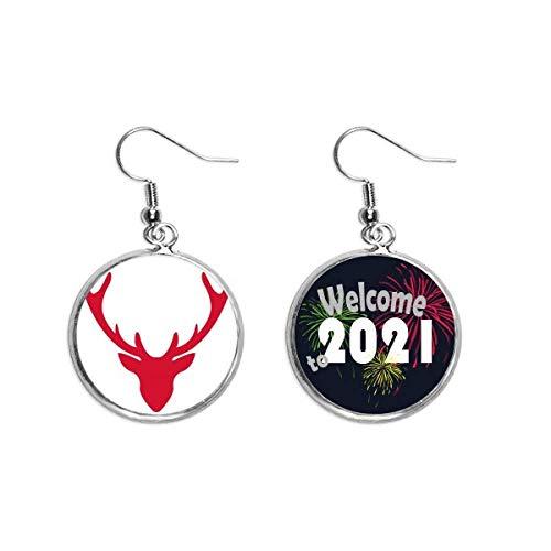 mas Elk Avatar Red Festival Ear Pendants Earring Jewelry 2021 Blessing