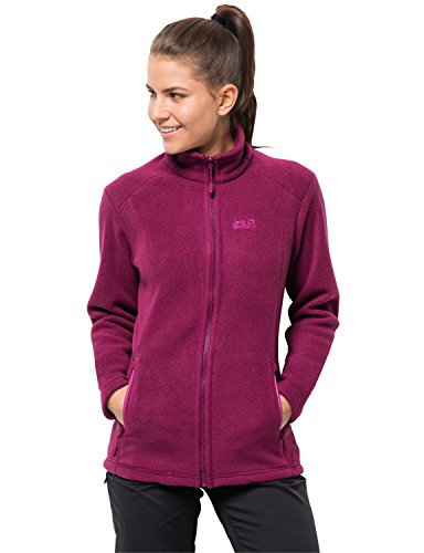 Jack Wolfskin Damen Midnight Moon Women Klassisch Robust Systemreißverschluss Outdoor Fleecejacke, Amethyst, S
