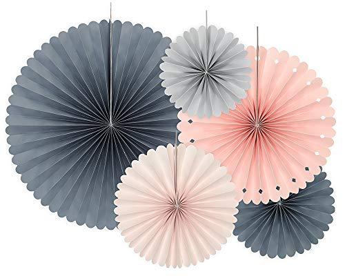 Dekorative Rosetten, 5 Stück, Elegant Bliss, 14-38 cm, Papierrosetten RPK7