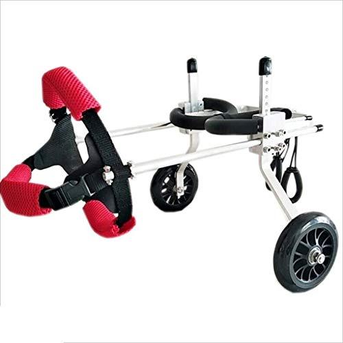 Urinflasche Hund Rollstuhl Zurück Dog Legs Trolley Pet Stroller, justierbare Große Hilfs Hund Rollstuhl Verwenden Licht Urinal (Size : XXS)