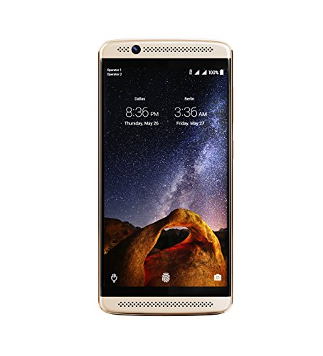 ZTE Axon 7 Mini (32GB, 3GB RAM) B2017G Dual SIM GSM Unlocked, Snapdragon 617, 16MP, 5.2' AMOLED FHD Display, Dual Stereo Speaker - Ion Gold