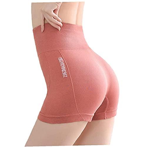 Yoga Pantalones cortos de cintura alta del entrenamiento de seguridad que forma los pantalones para mujer Pantalones cortos para correr sin fisuras de control de la panza Pantalones cortos de ciclista