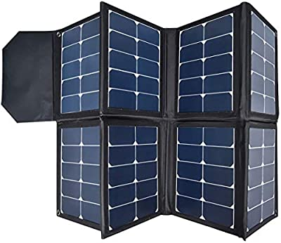 SUNGZU 130W Portable Collapsible Solar Panel Charger Waterproof Nylon 600D Material Suitable for Mobile Phones, Laptops, Car Batteries, Generators