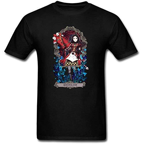 JYV Handsome Wonderland Alice Madness Returns Males T Shirt Black XL