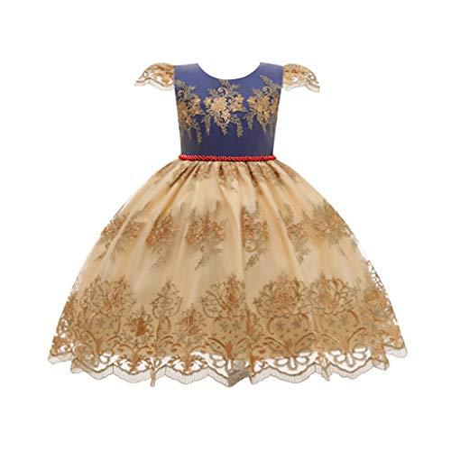 Dasongff Geborduurde meisjes, voor cosplay, party, bruiloft, prinses, jurk, vintage, partyjurk, middeleeuwen, Victoriaans feestje, tule jurk, kanten jurk