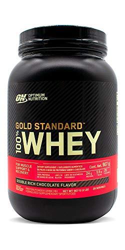 Optimum Nutrition ON Gold Standard 100% Whey Proteína en Polvo Suplementos Deportivos, Glutamina y Aminoacidos, BCAA, Double Rich Chocolate, 29 Porciones, 900 g, Embalaje Puede Varia