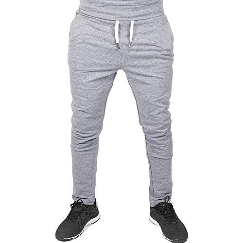 Homme Pantalon Jogging Sarouel Survêtement Sweat Pants Été Sport Longue Pants Slim Fit Couleur Unie Pas Cher