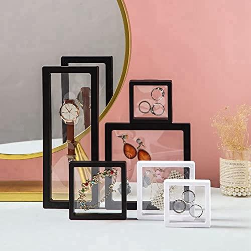 PE Film Suspension Jewelry Storage Box, 3D-Floating-Frame-Displayständer 6-Teilige, Schmuckbox für Broschen, Brustnadeln, transparenter Schmuckbehälter.