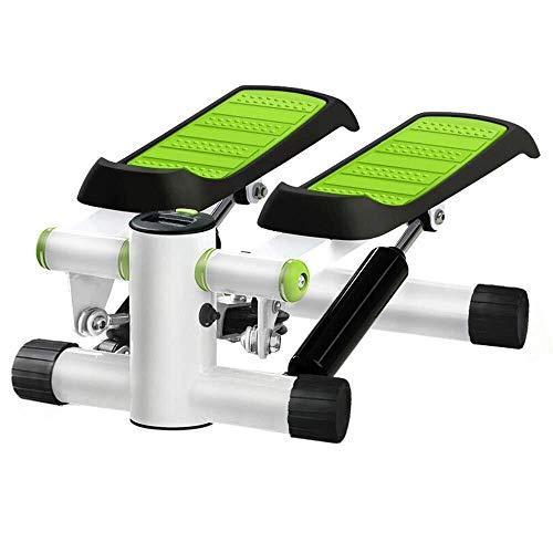 BXU-BG Paso a Paso Mini de Pasos de Escalada Cubierta hidráulico de Fitness Escalera Máquina Silencio Ejercicios Equipo con Pantalla LCD for el hogar Instalación Verde Libre Mini de Pasos