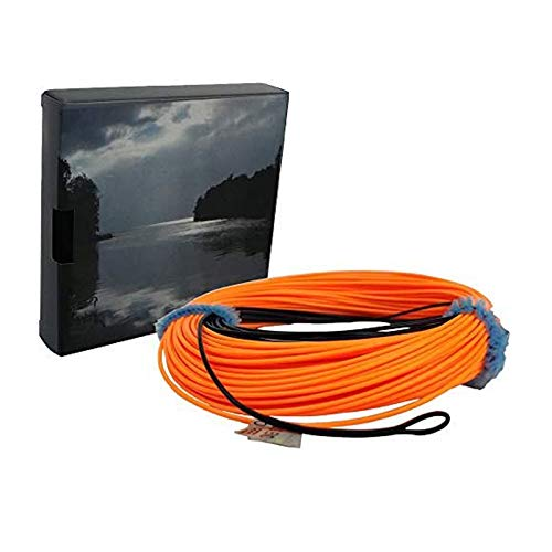 Aventik Sinking Tip Fly Line Fly Fishing Weight Forward Line Tapered Floating Sinking Tip Line 100 FT 3-4IPS (Black/Orange,5F/S)