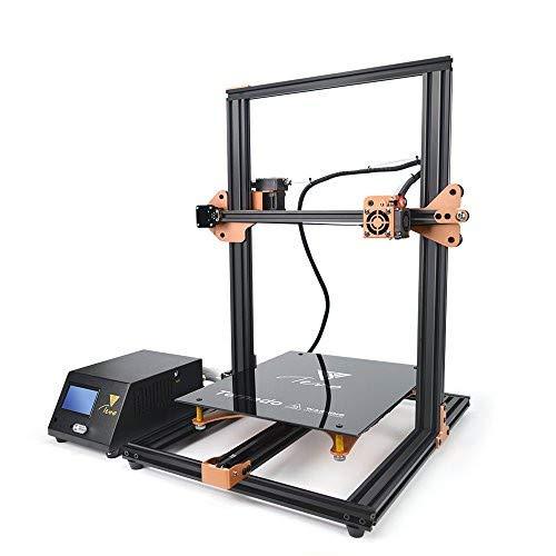 Imprimante 3D TEVO Tornado, Imprimante DIY Impression 3D Imprimante impresora avec extrudeuse pour PLA, ABS, TPU, cuivre, Bois et filaments Flexibles, 300 x 300 x 400 mm, dor¨¦ et Noir