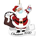 Saturdays Co. Christmas 2020 Ornament | Quarantine Santa with Mask, Hand Sanitizer, and Toilet Paper (Christmas 2020)