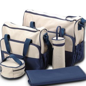 Wickeltaschen Set, 5-teilig, Blau