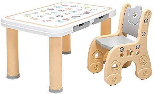 Étude pour enfants bureau enfants Table Table Tabouret Chaise Sets for les enfants de la maternelle de bébé Safety écrire Table de jeu en bois Apprendre en plastique stable Siège d'enfant ( Size : A )