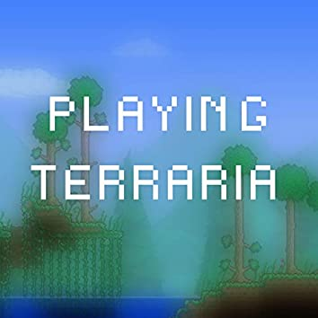 Playing Terraria