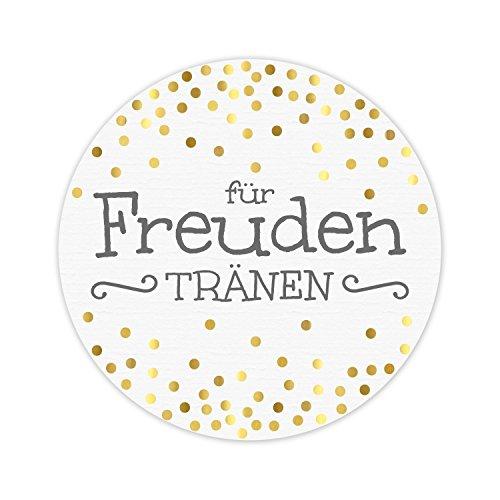 KuschelICH 100 Sticker für Freudentränen - wunderschöne Hochzeit Aufkleber - 5 cm...