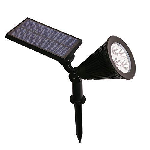 4 LED Spotlight Lawn Lamp Outdoor Garden Solar Panel Power Adjustable Wall Flood Light 7 Colour in 1 Landscape Lighting