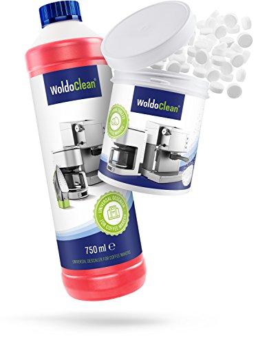 Pflegeset für Kaffeevollautomaten Entkalker 750ml & 260x Reinigungstabletten - Reinigungsset kompatibel mit Seaco Siemens Jura Delonghi Melitta uvm.